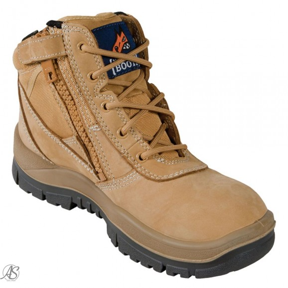 MONGREL WHEAT ZIP SIDE SAFETY BOOT