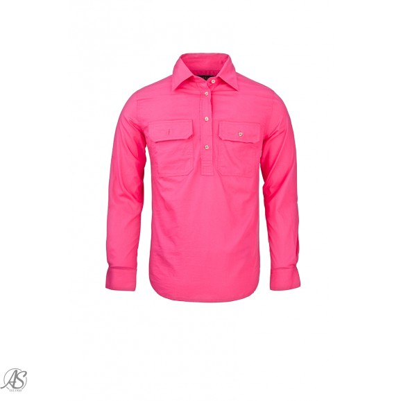 RITEMATE PILBARA LADIES CLOSED FRONT LONG SLEEVE SHIRT