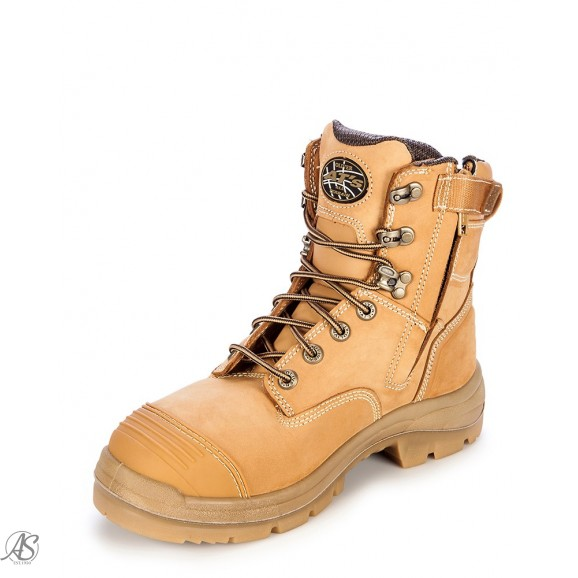 ZIP SIDED LACE UP SAFETY BOOT