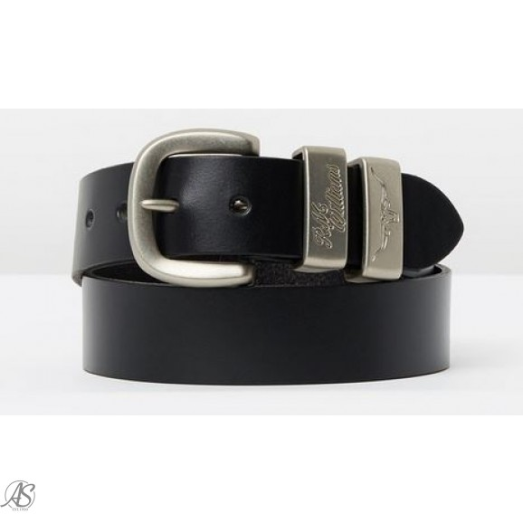 RMW 3 PIECE SOLID HIDE 1.5 BLACK BELT