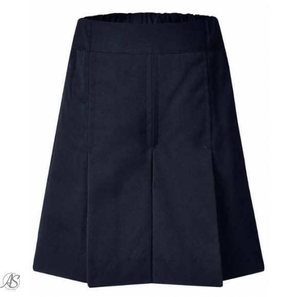 LWR INGLEWOOD NAVY BOX PLEAT SHORTS