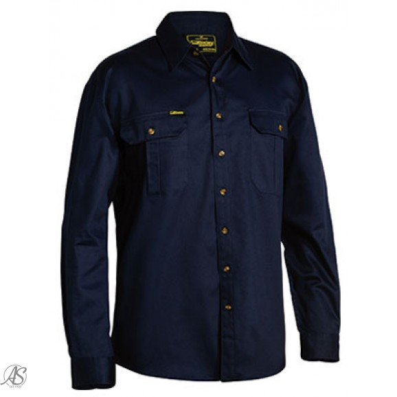 BISLEY LS OPEN FRONT WORK SHIRT
