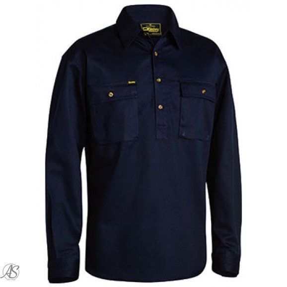 BISLEY LS CLOSED FRONT WORK SHIRT