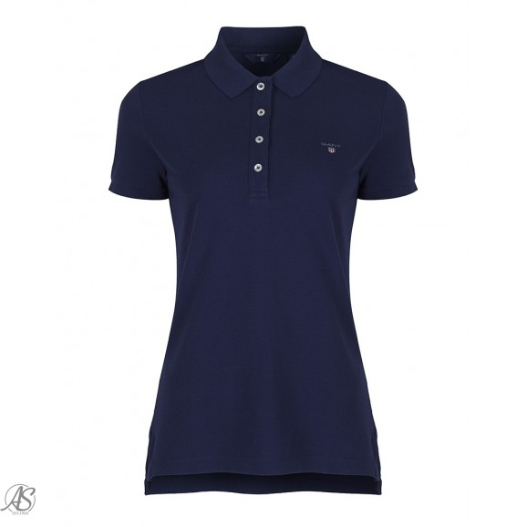 GANT SOLID FITTED PIQUE SS RUGGER POLO