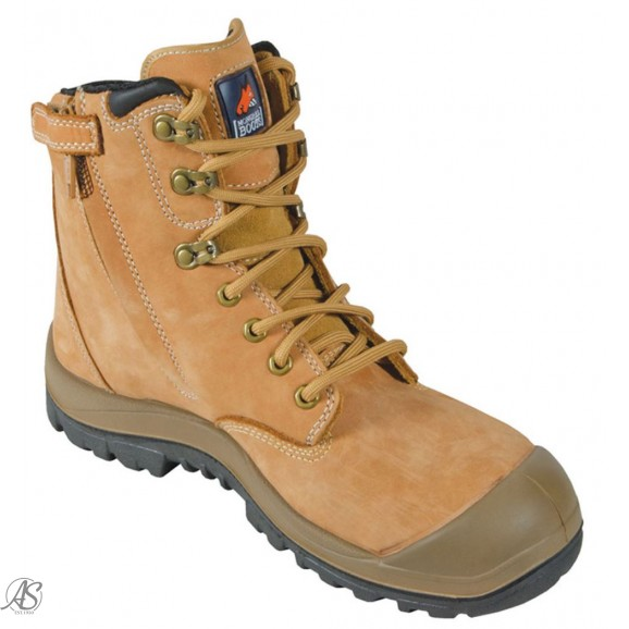 MONGREL WHEAT HIGH ANKLE ZIP BOOT W/CAP