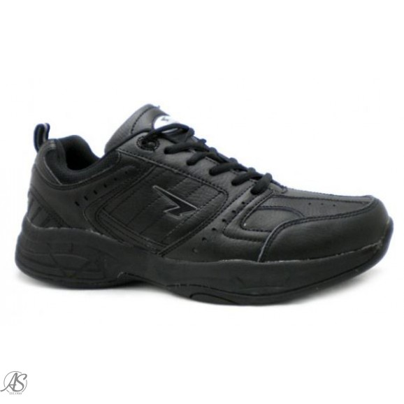 SFIDA BLACK LEATHER SCHOOL SHOE