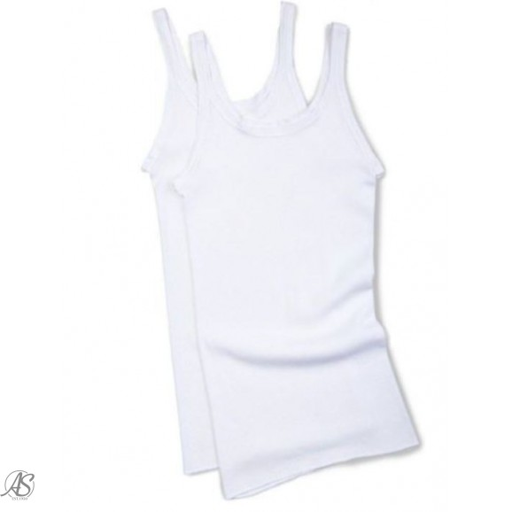 BONDS KIDS 2 PACK WHITE SINGLET