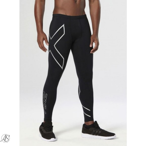 2XU BLK/SILVER THERMAL COMPRESSION TIGHTS